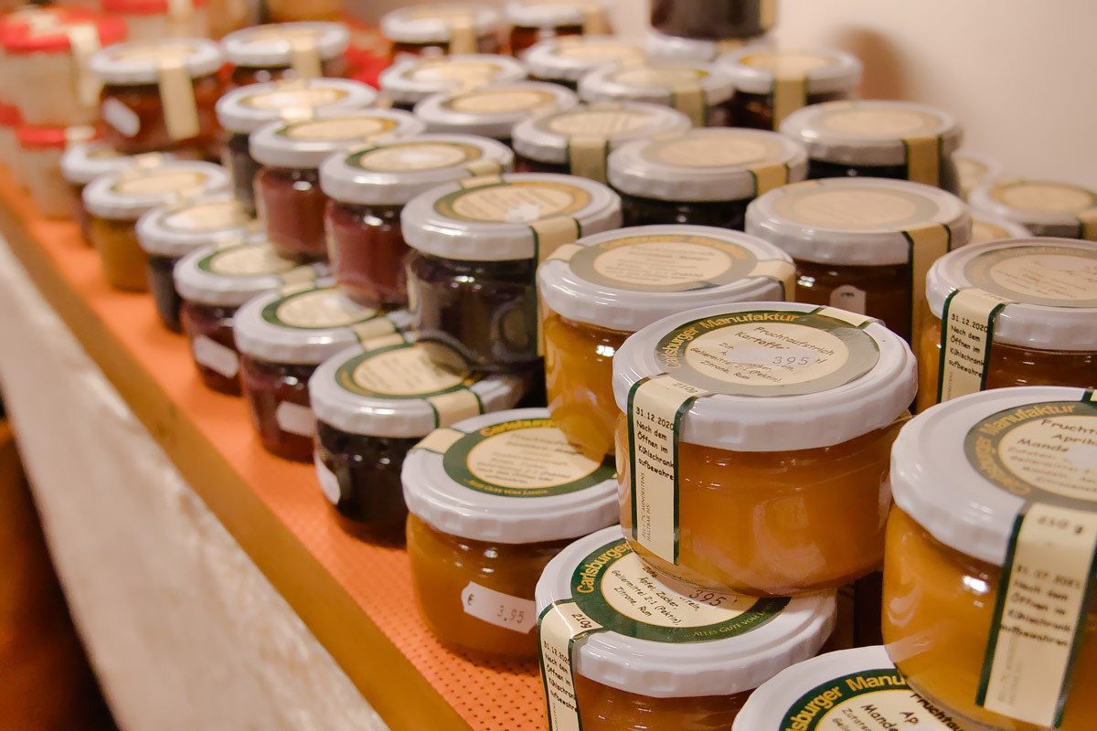 Carlsburger Dekoscheune Hofladen Marmelade